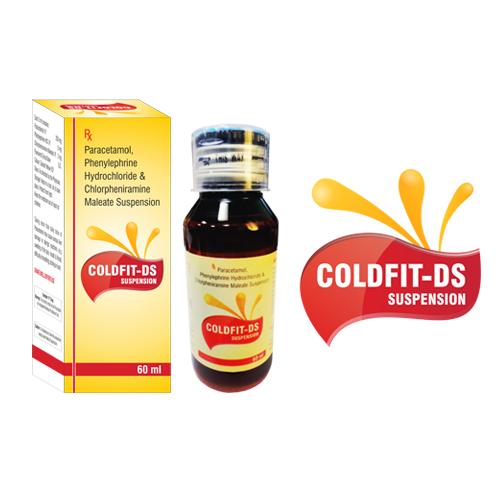 Coldfit-Ds Suspension, Paracetamol, Phenylephrine Hydrochloride &  Chlorpheniramine Maleate Suspension | Azine Healthcare Pvt. Ltd.